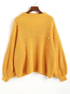 Up to 68% OFF! Lantern Sleeve Oversized Faux Pearls Sweater. #Zaful #sweater Zaful, zaful outfits, fashion, style, tops, outfits, blouses, sweatshirts, hoodies, cardigan, turtleneck,cashmere,cashmere sweater sweater, cute sweater, floral sweater, cropped hoodies, pearl sweater, knitwear, fall, winter, winter outfits, winter fashion, fall fashion, fall outfits, Christmas, ugly, ugly Christmas, Thanksgiving, gift, Christmas hoodies, Black Friday, Cyber Monday @zaful Extra 10% OFF Code:ZF2017