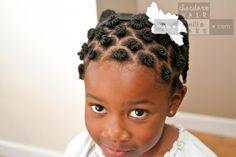 Threaded Mini Bantu Knots How-To Video #NaturalHair | Chocolate Hair / Vanilla Care