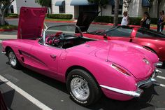 1958 Chevrolet Corvette - pink - rvl by Rex Gray, via Flickr