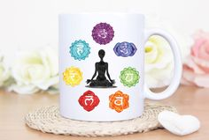 Personalized mug - Mugs with sayings - quote mug -chakra art, custom mug, yoga mug, tea cup, coffee cup, inspirational mug, metaphysical art by MysticCustomDesignCo on Etsy