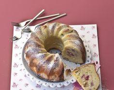 Rhabarber-Gugelhopf - Rezeptdatenbank - Swissmilk Cake & Co, Bundt Cakes, Bagel, Cake Recipes, Bread, Food, Food Food, Simple, Recipies