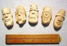 Výsledek obrázku pro carving faces on wood Chip Carving, Carving Board, Wood Carving Faces, Wood Carvings, Whittling Wood, Tiki Totem, Wood Stone, Wood Sculpture, Popular Woodworking