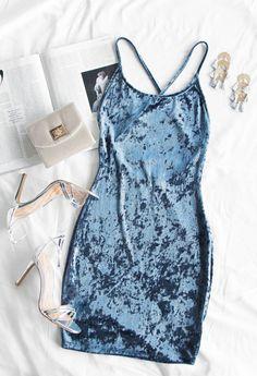 Major Crush Velvet Dress - Slate