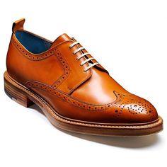 549938a6ff2a3 Barker Mens Bailey Tan Brogue Lace Up Shoe UK 8 Mens Tan Brogues