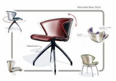 Mercedes-Benz is going into the furniture business. The first collection of designer furniture under the Mercedes-Benz Style brand was presented at Milan Furniture Fair yesterday and will be sold worldwide from October All the images! Milan Furniture, New Furniture, Vintage Furniture, Furniture Design, Furniture Sketches, Furniture Market, Italian Furniture, Classic Furniture, Repurposed Furniture