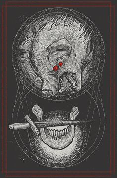 Lone Wolves of Self Destruct by Pestmeester Artworks, via Behance art, black, wolves