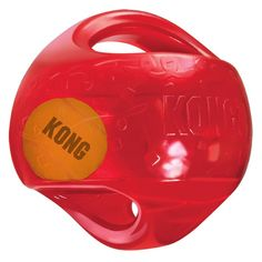 The Kong jumbler Tri is a two-in-one ball toy for twice the interactive fun. The interior tennis ball and Loud squeak entice play, while the handles make pickup and shaking easy. The Kong jumbler tri is a two-in-one ball toy for twice the interactive fun. Smart Dog Toys, Best Dog Toys, Le Kong, Jouet Kong, Dog Toys Amazon, Outdoor Dog Toys, Kong Company, Kong Dog Toys, Cleaning Toys