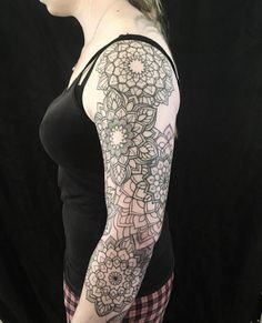 Mandala flower sleeve by Dominique Holmes