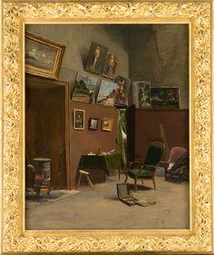 Frédéric Bazille: L'Atelier de la rue de Furstenberg, 1865-66. / Musée Fabre