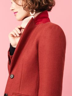 J. Crew Parke Topcoat and Fair Isle Turtleneck Sweater