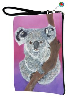 03bf8252e496 Koala Bear Pouch with detachable strap - Salvador Kitti- From My Original  Painting