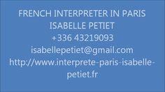 INTERPRETE TRILINGUE A PARIS Français Anglais Italien
