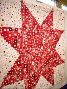 red and white coverlet | Selvage Blog: Red and White Quilt by Shoko Sakai