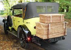 Vintage Car Basket