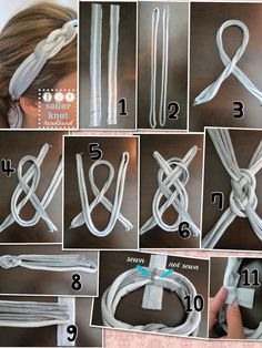 Diy sailor knot headband . The link to the original one is here https://domesticingenuity.wordpress.com/2013/08/19/diy-sailor-knot-headband/ I only put the pictures together