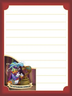 "The Astounding Donaldo - Project Life Journal Card by pixiezilla - Scrapbooking ~~~~~~~~~ Size: 3x4"" @ 300 dpi. This card is **Personal use only - NOT for sale/resale** Logo/clipart/image belong to Disney. *** Click through to photobucket for more versions of this card ***"
