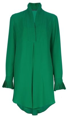 As seen at the closing olympic ceremony   Pleated Shirt Dress by Alexander McQueen