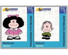 Estampillas argentina mafalda y otras varias