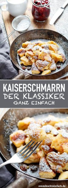 Kaiserschmarrn - www.de snacks for kids to make Kaiserschmarrn ganz klassisch - emmikochteinfach Easy Cake Recipes, Sweet Recipes, Dessert Recipes, Healthy Recipes, Snacks Recipes, Dinner Recipes, Diy Snacks, Night Snacks, Paleo Food