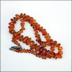 Boho Knotted Baltic Amber Necklace22 Inches by ReadyMadeJewelry, $52.00