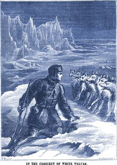 In the crescent of white wolves: arctic explorer Sir John Richardson depicted in The Quiver, 1870. My Strange & Unusual Site | Books | Videos | Music | Etsy