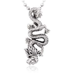 Fashion Vivid Dragon Men's Titanium Pendant
