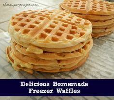 The Best Freezer Waffle Recipe... EVER! | The Coupon Project I've kept them in the fridge to eat later in the week, but never thought about freezing them. Awesome!
