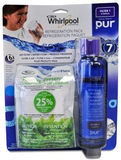 Whirlpool W10365758PK Filter 1 Refrigerator Filter Bundle Pack by Whirlpool. $49.99. From the Manufacturer                Filter 1  Refrigerator Filter Bundle Pack contains:  1 water filter ( W10295370 Filter 1) , 1 Air Filter ( W10311524) and 1 produce preserver ( W10346771A).                                    Product Description                Filter 1  Refrigerator Filter Bundle Pack contains:  1 water filter ( W10295370 Filter 1) , 1 Air Filter ( W10311524) and 1 produc...