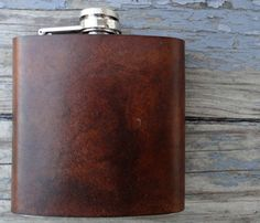A leather hip flask. Everyone needs one.