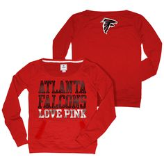 Atlanta Falcons VS PINK Wideneck Red Pullover