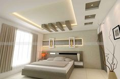False ceiling designs in hyderabad - gypsum Fall Ceiling Designs Bedroom, Interior Ceiling Design, House Ceiling Design, Ceiling Design Living Room, Bedroom False Ceiling Design, False Ceiling Living Room, Bedroom Bed Design, Ceiling Light Design, Bedroom Cupboard Designs
