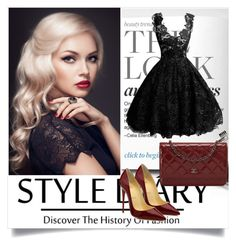 Black and red-best combination by betty-boop23 on Polyvore featuring polyvore, fashion, style, Christian Louboutin, Chanel and clothing