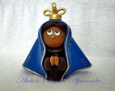 Nossa Sra. Aparecida - 9 CM DE ALTURA  http://www.elo7.com.br/atelierclaudiaaparecida