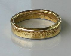 Canadian Loonie Dollar Coin Ring by CraftsByJoel on Etsy