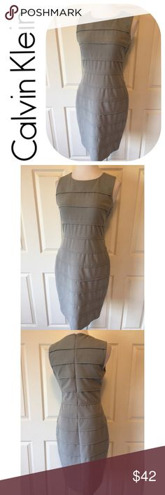 """CALVIN KLEIN GRAY SHIFT DRESS Beautiful Calvin Klein Shift Dress🔹Size 8: 38"""" bust, 39"""" length 30"""" waist. 🔹Concealed back zipper🔹Back slit🔹Fabric: 63% polyester, 33% rayon, 4% spandex. 🔹Dry clean 🔹Excellent condition🔹NO trades🔹Smoke Free Home🔹Bundle discount: 10% off two, 15% off three🔹Thank you for stopping by💕 Calvin Klein Dresses"""