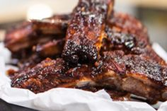 You won't mind getting messy when you taste these sweet-and-spicy ribs.  Just be sure to keep the napkins handy!