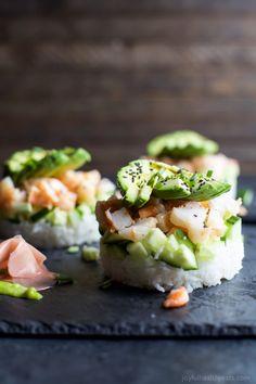 Stacked California Sushi RollReally nice recipes. Every #hashtag