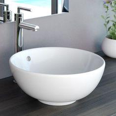 NEG Waschbecken Uno20A (rund), Aufsatz-Waschschale/Waschtisch (weiß) mit hohem Rand und Nano-Beschichtung-46523653