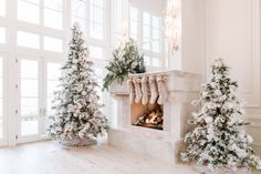 My Holiday Home Tour - Rach Parcell Christmas Greenery, Christmas Decorations, Christmas Trees, All Things Christmas, Christmas Home, Merry Christmas, Fur Tree, Flocked Trees, Seasonal Decor