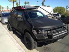 Ford Raptor done with bedliner Big Trucks, Ford Trucks, Bedliner Paint Job, Ford Rapter, Extreme 4x4, Bug Out Vehicle, Expedition Vehicle, Jeep Life, Dream Garage