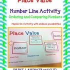 Place Value Number Line Ordering and Comparing Numbers Standard Form, Word Form, and Expanded Form HANDS-ON ACTIVITY! for numeration and number sen...