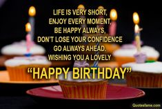Best Birthday Wishes Quotes ~ Happy birthday wishes quotes and images cakes and cards