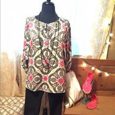 Ivy Jane dolman sleeve blouse Beautiful paisley print, peasant style Ivy Jane Tops Blouses