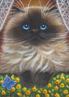 Himalayan Persian Cat Painting in Acrylics