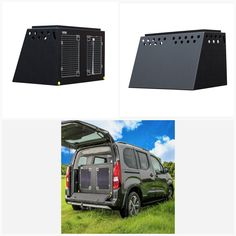 DT Box Dog Car Travel Crate- The DT 12 About the DT 12 The DT 12 is a great box made specifically for vans such as the Citroen Berlingo, Peugeot Rifter Peugeot Rifter (2018–present) and Peugeot Partner with enough room for two large German Shepards. It comes with a removable divide which frees up more space if you needed. The box is made from a super tough lightweight plastic and to make this easy to clean we have included drainage plugs. This model also features a tray on top for holding… Dog Travel Crate, Car Travel, Peugeot, Dog Travel Accessories, Pet Vet, Dog Crates, Stainless Steel Doors, Dog Car, Large Dogs