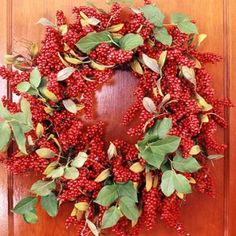 A wreath to fit the season..