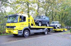 Transport of  The Shortwheel base Pick-up and the G230 Classic 1 of 300 to the Port of Amsterdam