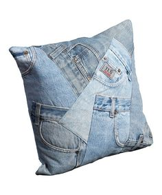 Take a look at this Blue Jean Denim Pillow by Nourison on #zulily today!