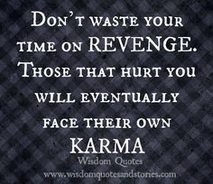 Don't waste your time on revenge | wisdom quotes