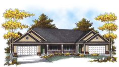 See the Hadley Place Classic Duplex that has 3 bedrooms and 2 full baths from House Plans and More. See amenities for Plan House Plans And More, Family House Plans, Country Style House Plans, Ranch House Plans, Country Style Homes, Family Houses, Duplex Floor Plans, Duplex Design, Traditional House Plans